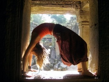 Back bend temple