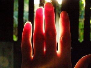 Illuminated hand
